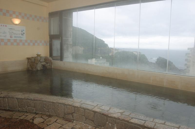 海抜60m!海一望の大浴場